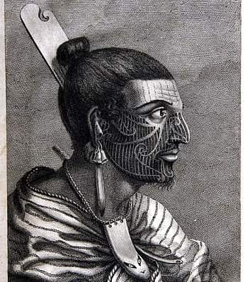 Drawing of a Maori chief