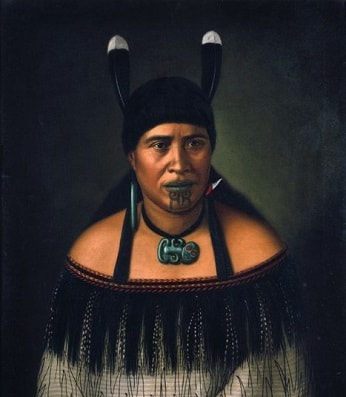 Portrait of a Maori woman